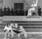Dogs and Monkey Perform at Papal Audience