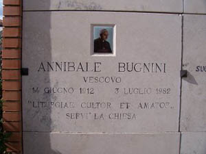 Hannibal Bugnini Tomb - Detail