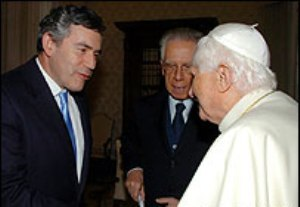 Gordon Brown & Benedict-Ratzinger