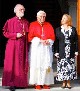 Rowan Williams, Benedict-Ratzinger & Jane Williams